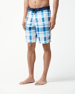 Baja Pomona Plaid 9-Inch Board Shorts