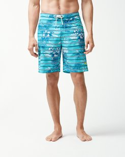 Baja Satillo Stripe 9-Inch Board Shorts