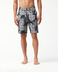 Cayman Palm Del Plaid 9-Inch Hybrid Board Shorts
