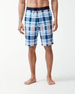 Baja Pomona Plaid 11-Inch Board Shorts