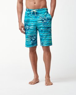 Baja Satillo Stripe 11-Inch Board Shorts