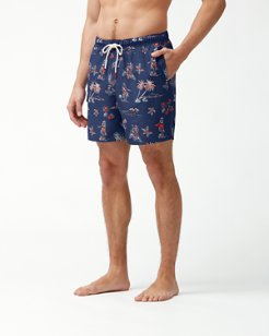 Naples Hula Hut 6-Inch Swim Trunks