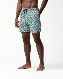 Naples Moorea Marlins 6-Inch Swim Trunks