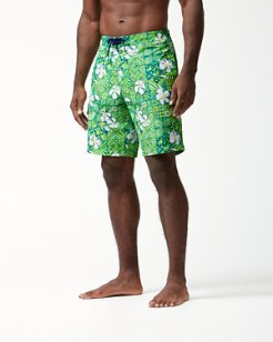 Baja Tahitian Tiles 9-Inch Swim Trunks