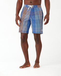 Baja King Of Gingham 9-Inch Board Shorts