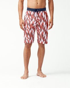 Baja Geo Celeste 11-Inch Swim Trunks