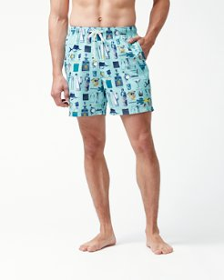 Naples Well Stocked 6-Inch Swim Trunks