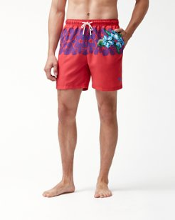 Naples Pina Palms 6-Inch Swim Trunks