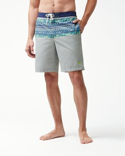 Baja Lucca Stripe 9-Inch Board Shorts