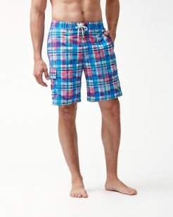 Baja Pastino Plaid 9-Inch Board Shorts