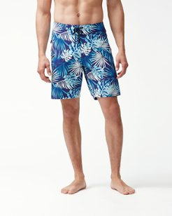 North Shore Lago Leaves 9-Inch Board Shorts