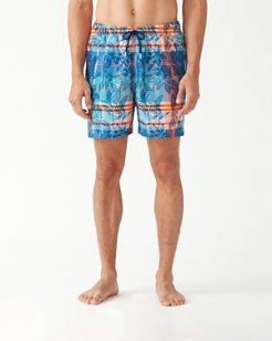 Naples Desert View Plaid 6-Inch Swim Trunks
