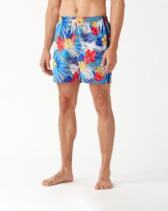 Naples Prickly Pear Palms 6-Inch Swim Trunks
