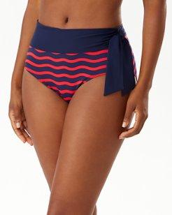 Sea Swell High-Waist Tie Bikini Bottoms
