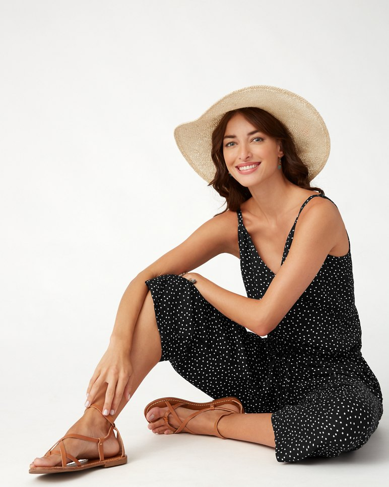 Main Image for Sea Swell Linen-Blend Cropped Jumpsuit