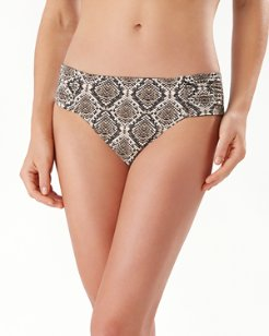 Desert Python Reversible Side-Shirred Bikini Bottoms