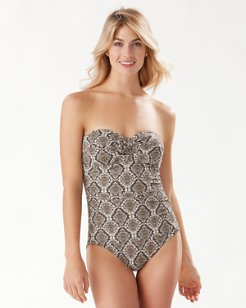Desert Python Bandeau One-Piece Swimsuit