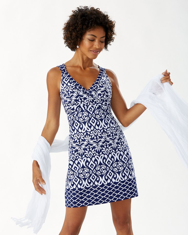 Main Image for Ikat Diamonds Wrap-Front Dress
