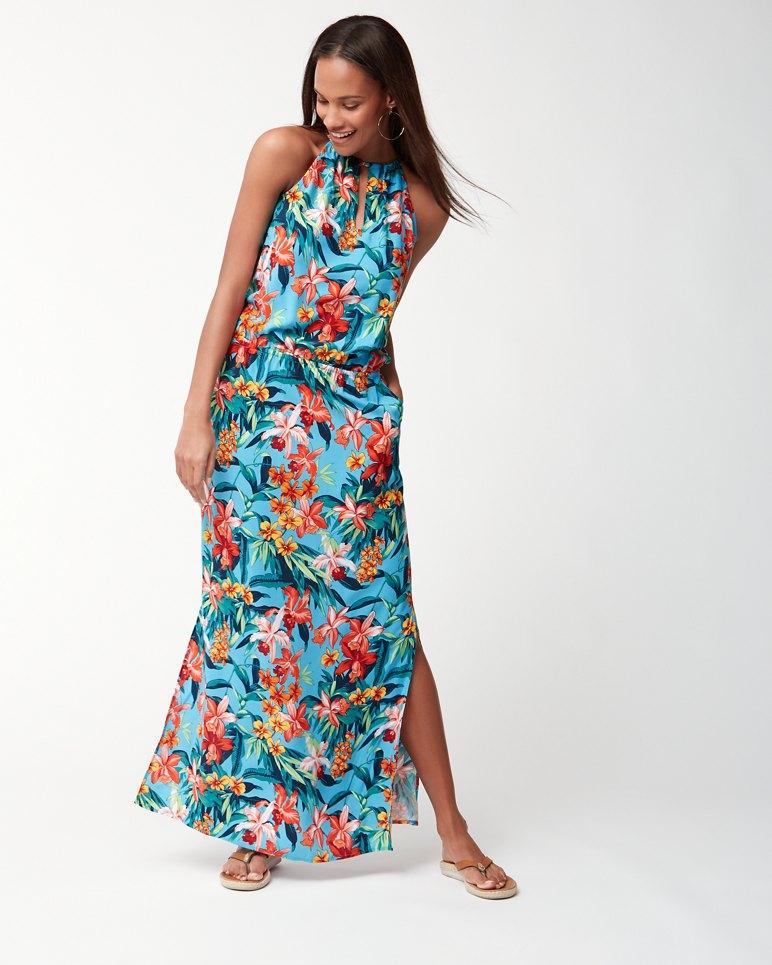 Floriana High Neck Maxi Dress