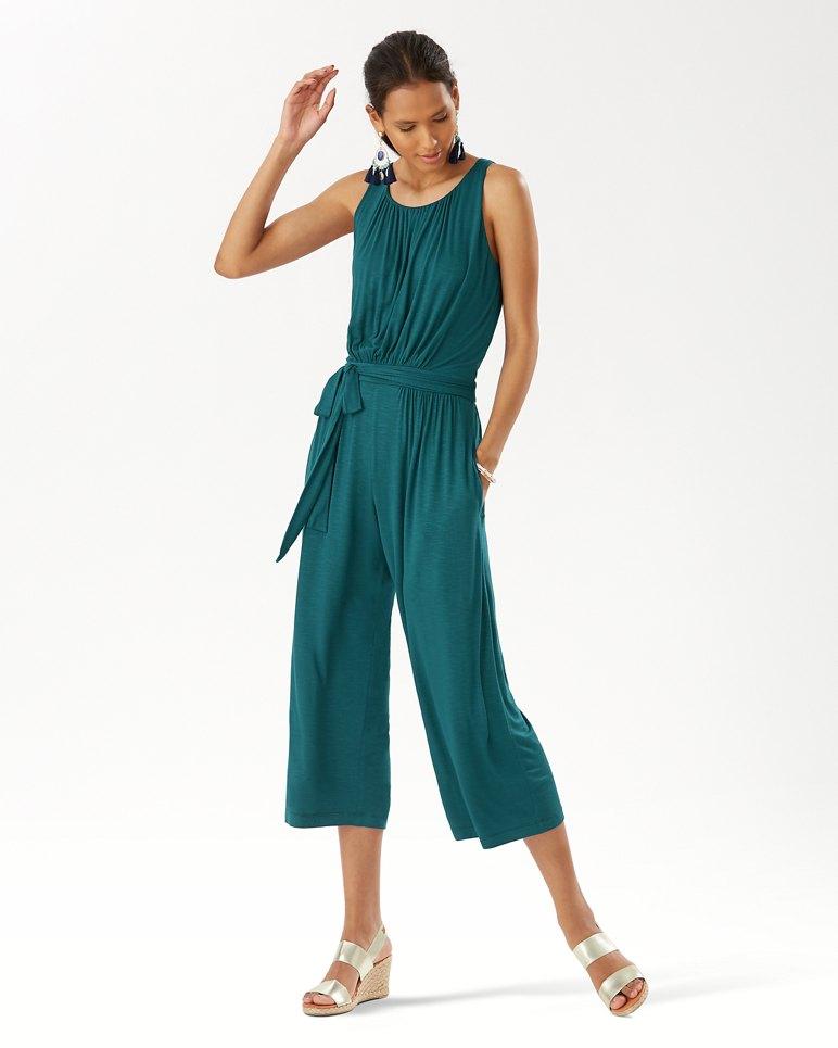 Main Image for Slub Knit Cropped Jumpsuit