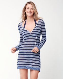 Linen & Cotton Striped Tunic Sweater