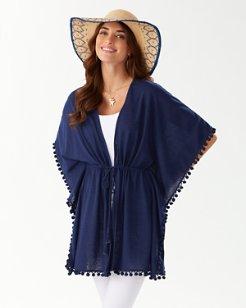 Linen-Jersey Pom-Pom Tunic