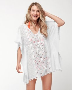 Eyelet Tunic With Tassels