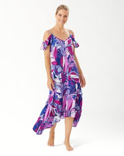 Oasis Blossoms Flounce Dress