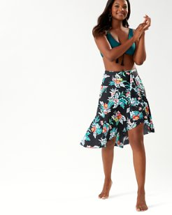 Floral Springs Pull-On Flounce Skirt