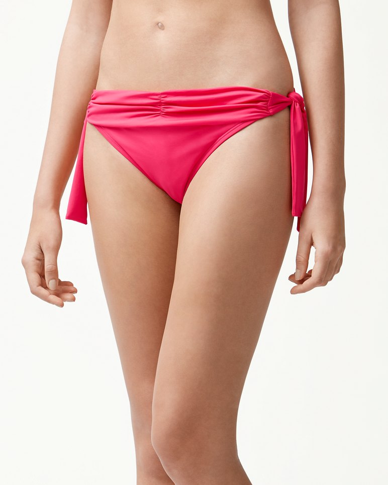 Main Image for Pearl Shirred Side-Tie Hipster Bikini Bottoms