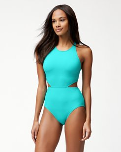 Pearl Cutout One-Piece Swimsuit