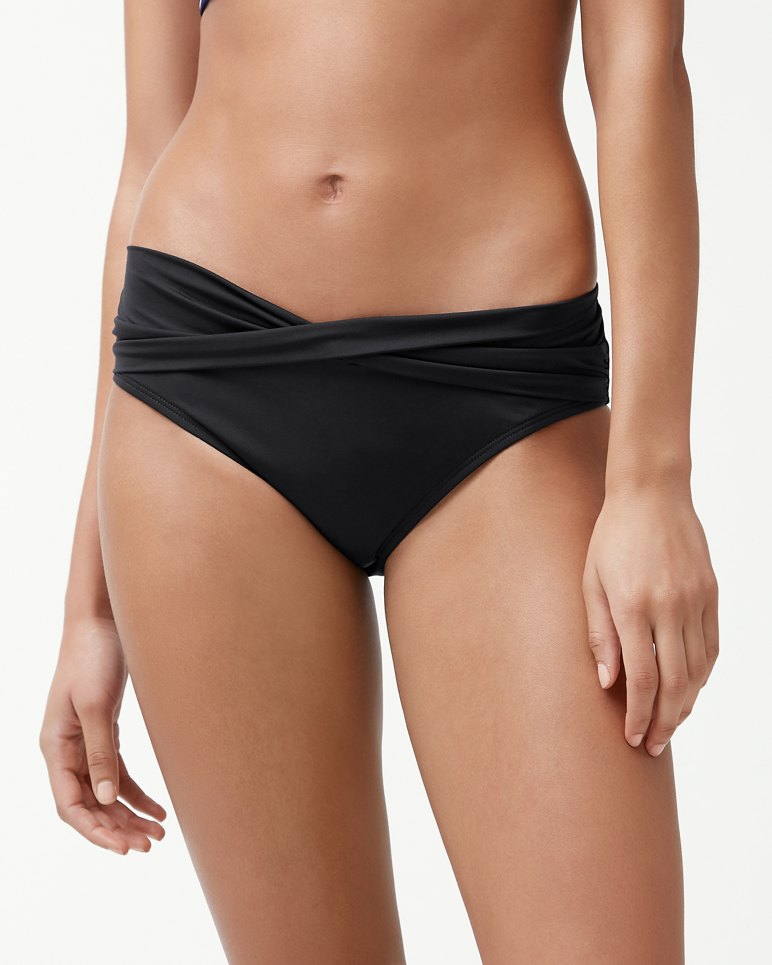Main Image for Pearl High-Waist Twist-Front Bikini Bottoms