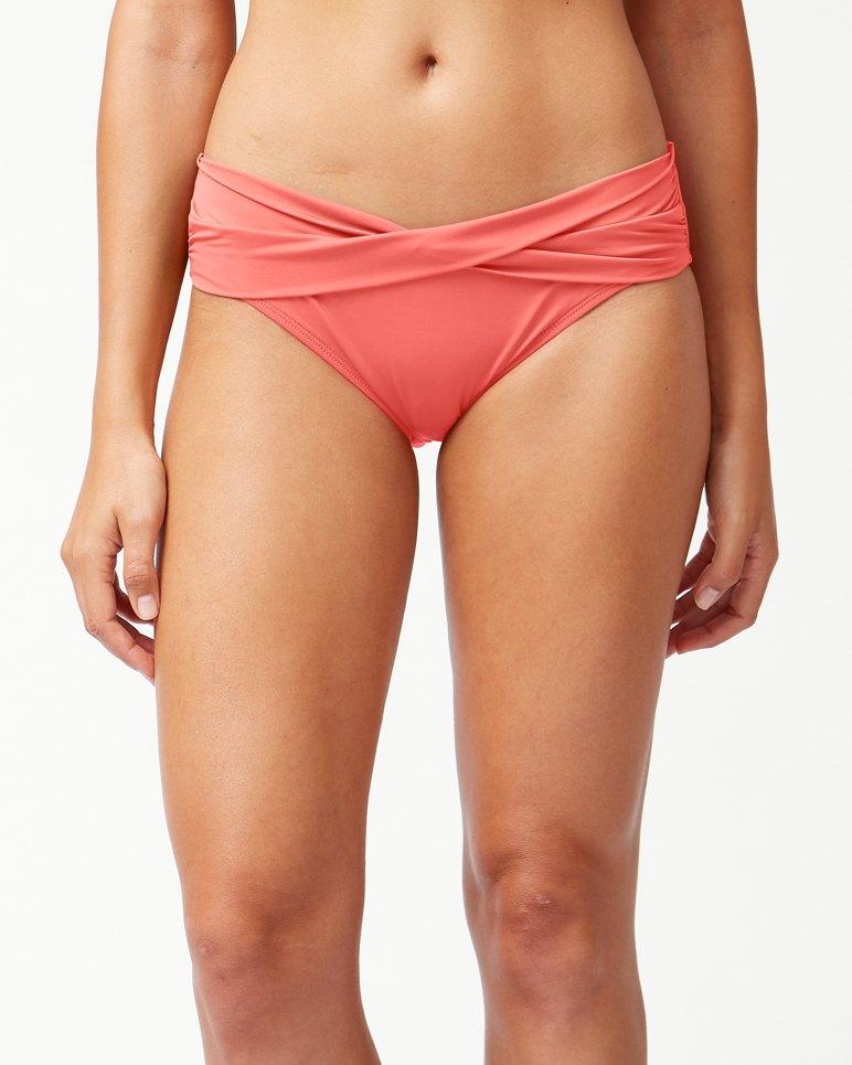 f498ab9676090 Main Image for Pearl High-Waist Twist-Front Bikini Bottoms