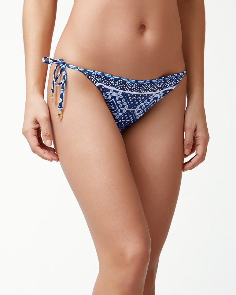 Main Image for Indigo Cowrie Reversible String Bikini Bottoms
