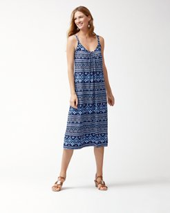 Indigo Cowrie Crossback Dress