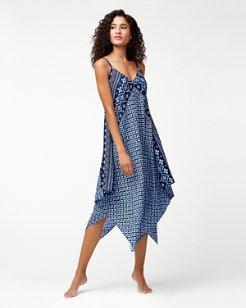 Indigo Cowrie Scarf Dress
