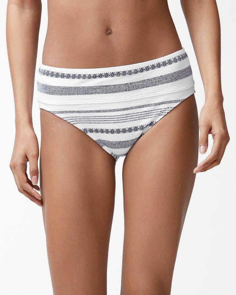 eb12c821eb Main Image for Sandbar Stripe Textured Wide-Band High-Waist Bikini Bottoms