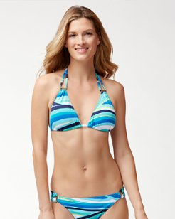 Winding Wave Triangle Bikini Top