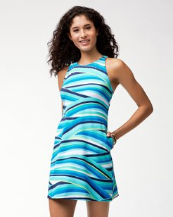 Winding Wave Swim Dress