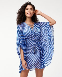 Fuller Fronds Lace-Up Tunic