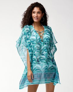Amongst Fronds Lace-Up Tunic