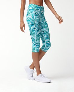 IslandActive® Amongst Fronds Capri Leggings