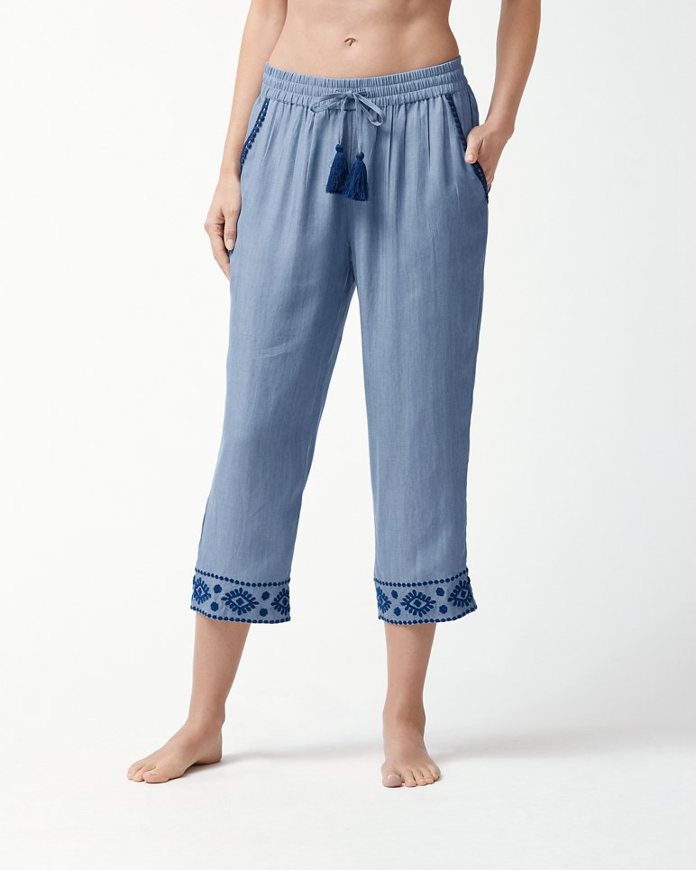 Main Image for Chambray Embroidered Pants