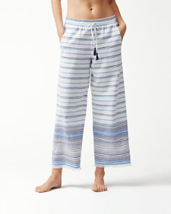 Linen Cotton Cropped Beach Pants