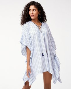 Ticking Stripe Lace-Up Tunic