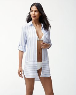 Ticking Stripe Boyfriend Shirt