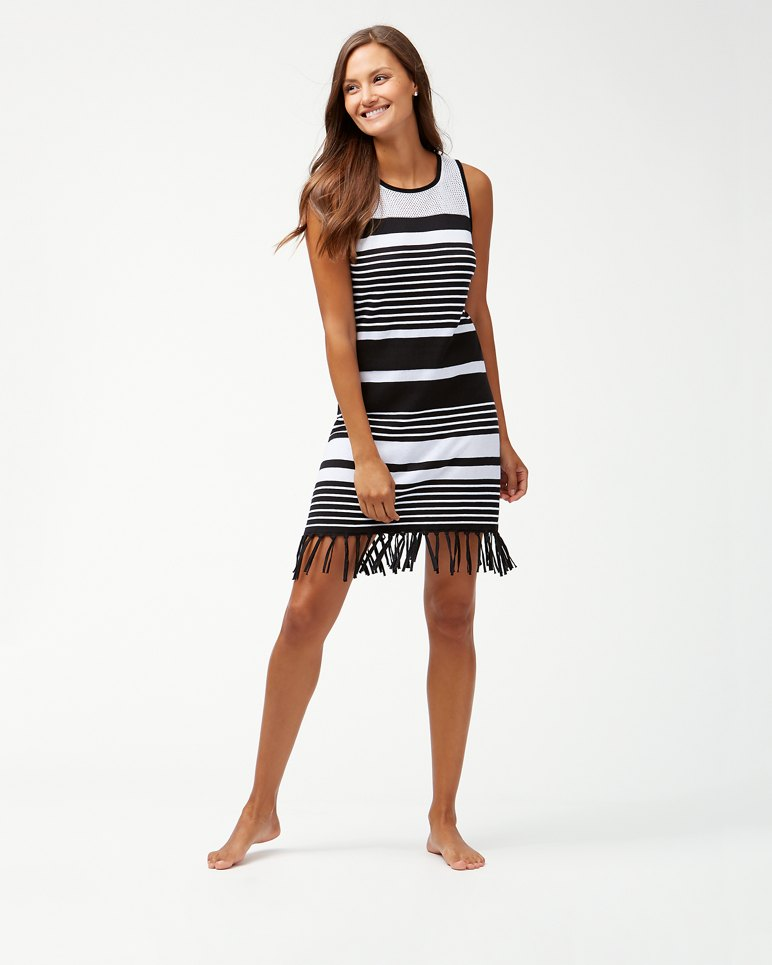 Main Image for Stripe Fringe Sweater Dress