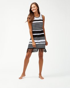 Stripe Fringe Sweater Dress