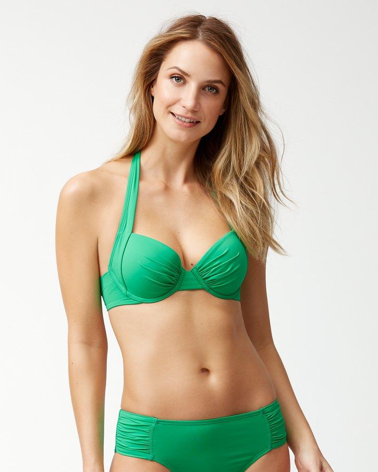 fe34e09aecbb6 Main Image for Pearl Underwire Halter Bikini Top