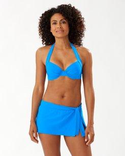 Pearl Underwire Halter Bikini Top